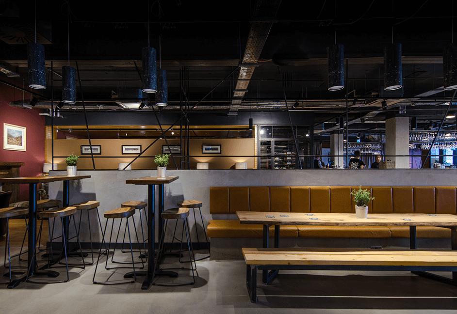 contemporary lighting scheme for dinning area