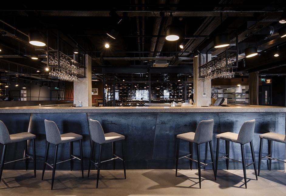 down lights for modern bar area