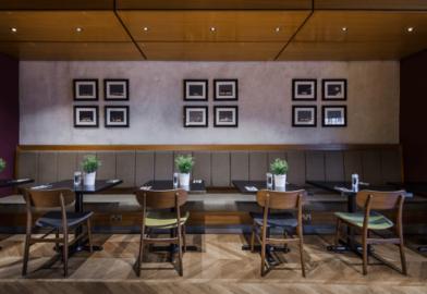 contemporary lighting design for hospitality area