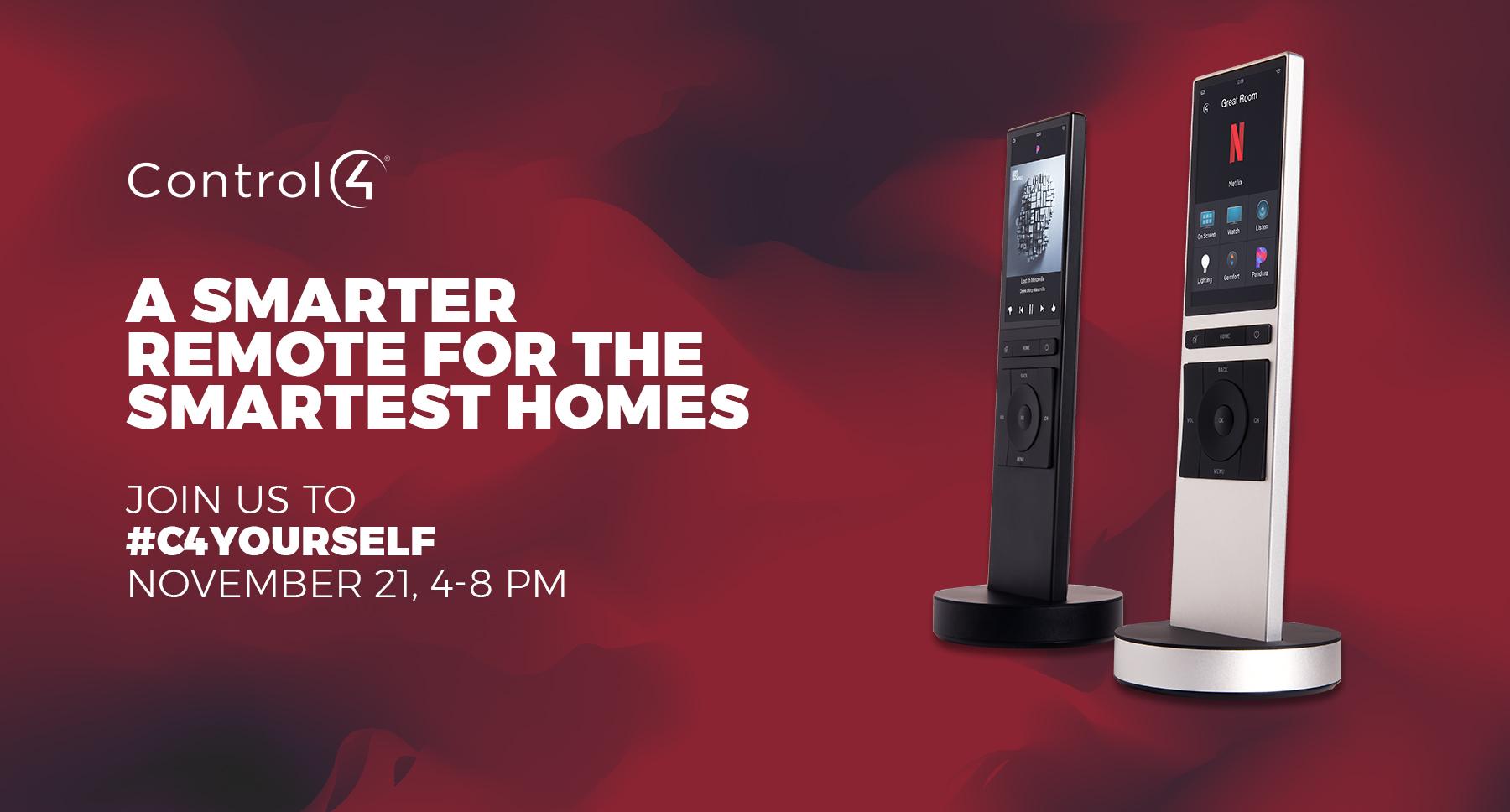 Control 4 smart home event