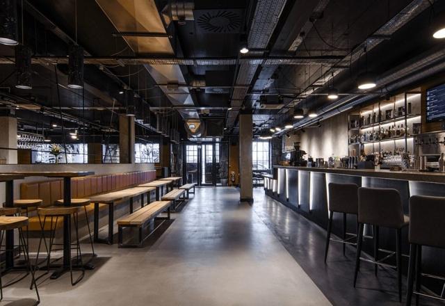 industrial lighting design scheme for bar and restuarant