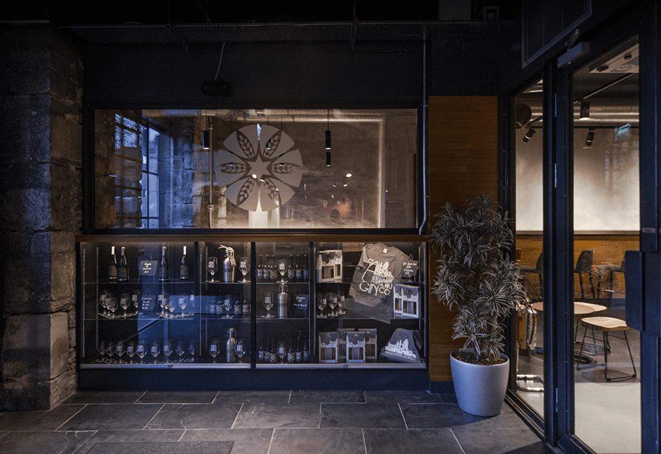 display cabinet lighting for bar entrance