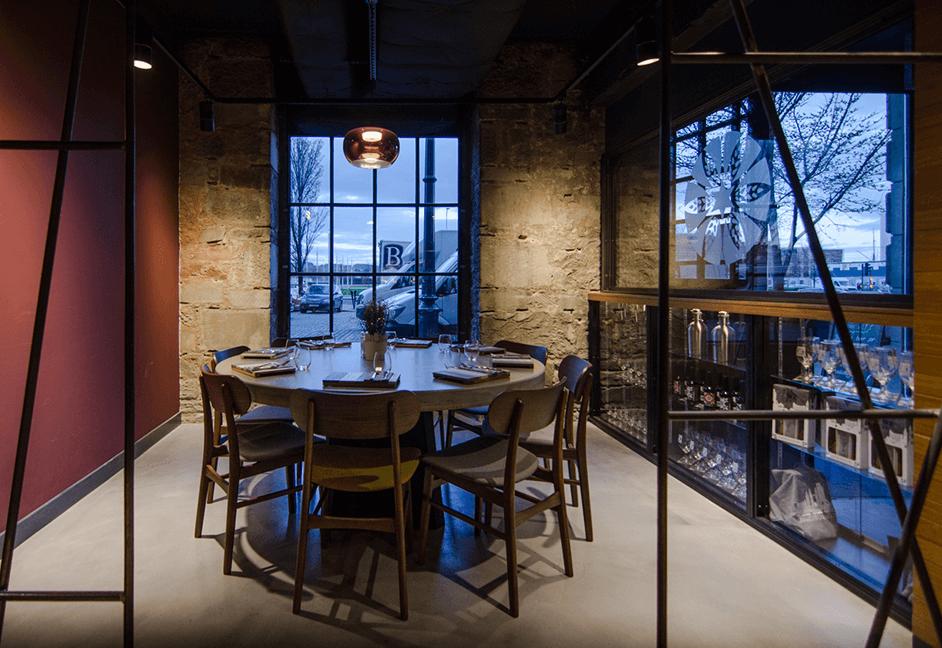 private dinning area lighting