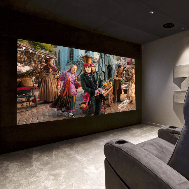 Pyramid home cinema room - Alice in wonderland