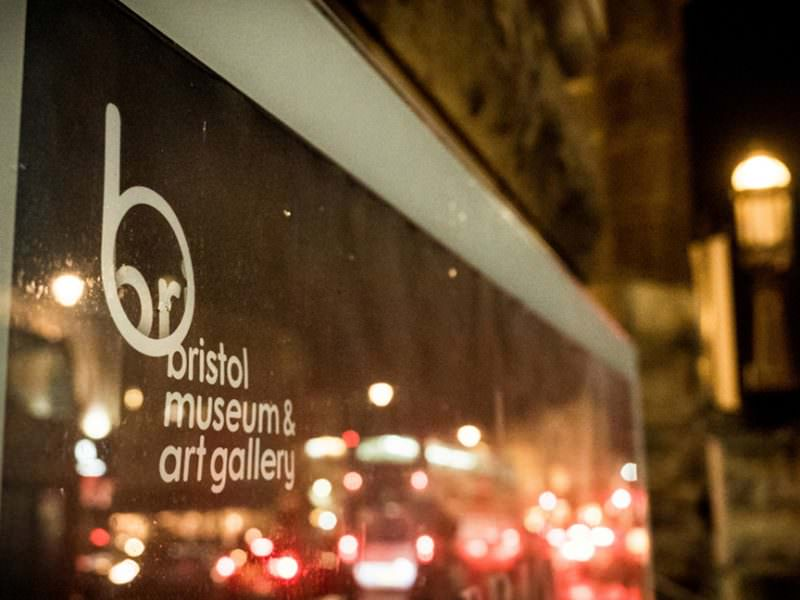 Front entrance sign of venue Bristol Museum and Arts Gallery