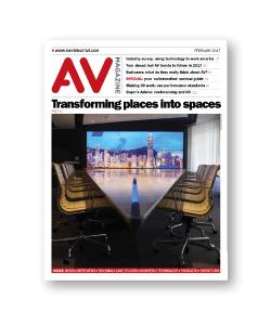 AV magazine cover 2017