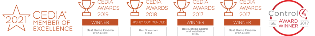 CEDIA and Control4 awards - Resi page