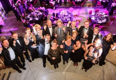 Award winners at Bristol Museum and Arts Gallery in black tie