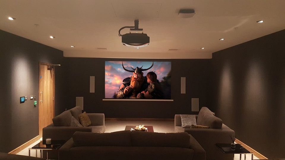 BDW - cinema room - movie on screen