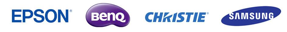 Logos for Projectors and Projection Systems manufacturers Epson, BenQ, Christie and Samsung