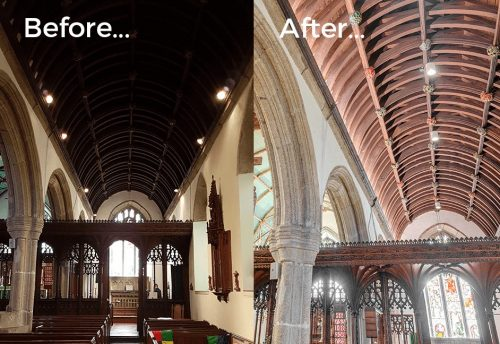 Church heritage aisle lighting design before and after results