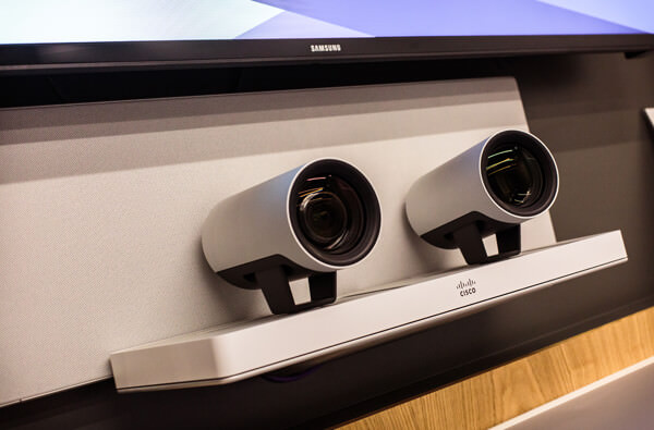 Video conferencing cameras close up