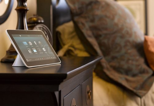 Hotel room touch screen automation system