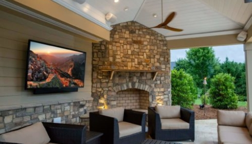 Smart outdoor tv