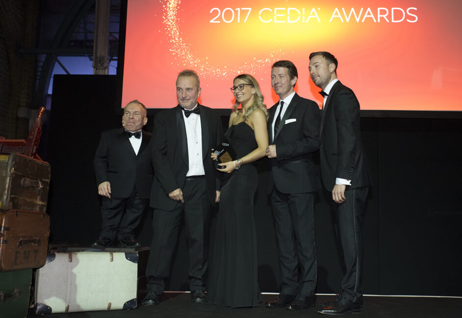 2017 Cedia awards on stage
