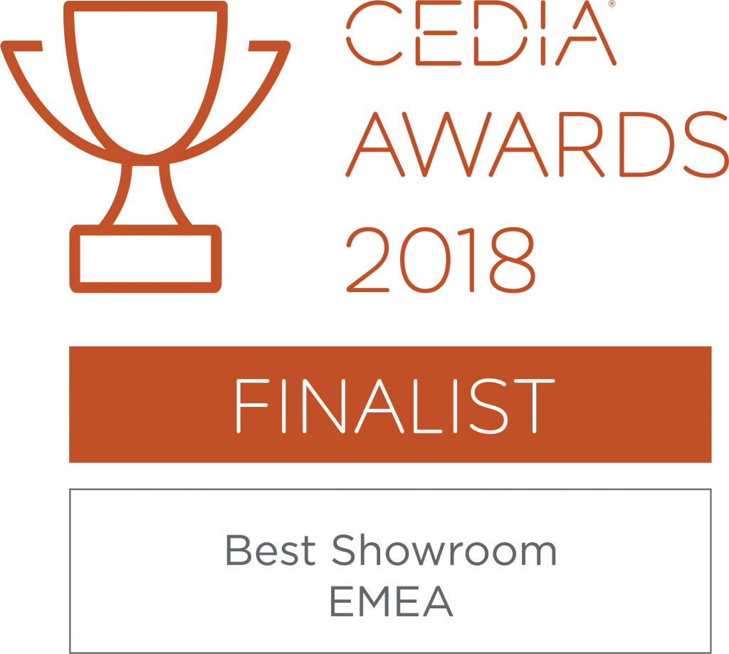 Finalist for Best Showroom 2018 at the CEDIA EMEA Awards