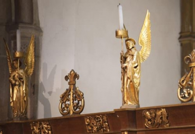 Feature lighting in Church for monuments and decorative displays