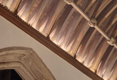 TRYKA ceiling cove lighting to uplight roof beams in Church in Bodmin Cornwall