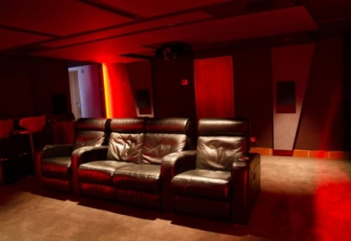 Sound proofed home cinema in Devon