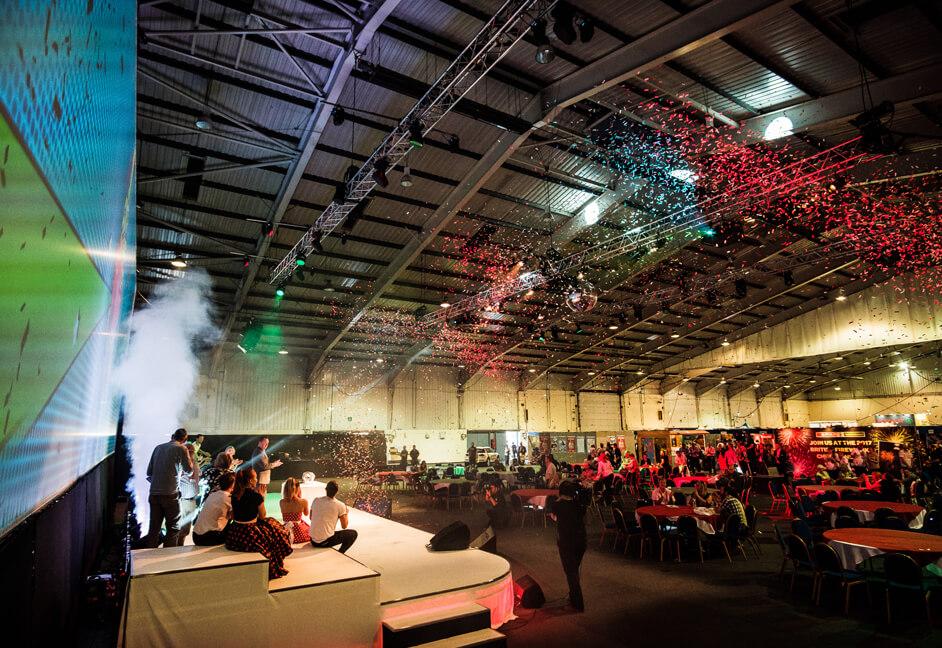 Tradeshow conference prize draw presentation