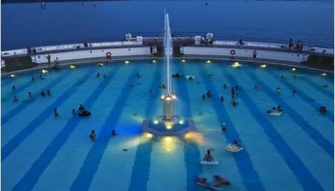 Plymouth Tinside pool - lighting
