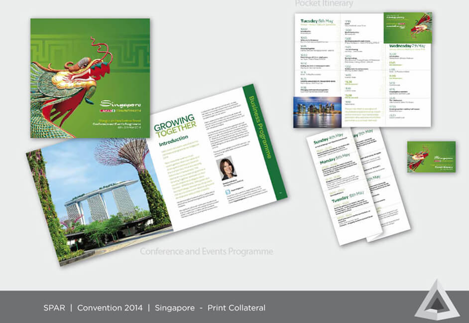 Event brochures collateral design