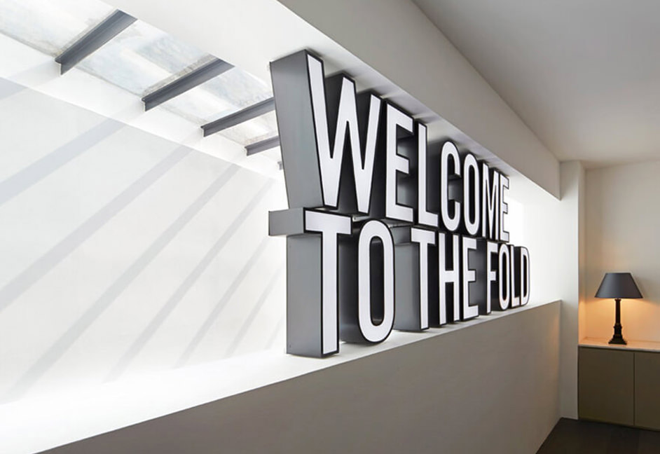Fold7 Reception with welcome sign