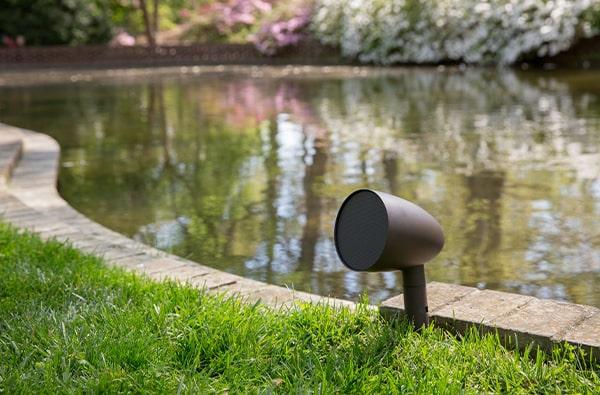 Garden audio by pond