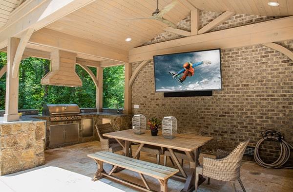 external garden tv