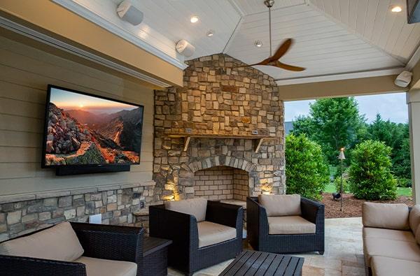 Outdoor garden tv