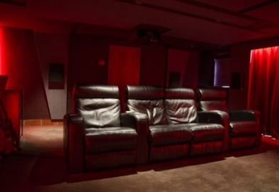 Cinema seating in home cinema demo facility near Cornwall