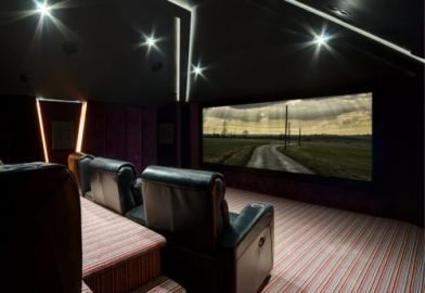 Family cinema installation in the UK using Control4, Rako, Trinnov, Artcoustic and Panasonic