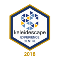 Kaledescae badge for home cinema Showroom