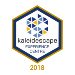 Kaledescae badge for home cinema Showroom