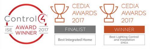 control4 and cedia winner badges