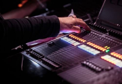 Audio mixing backstage for event