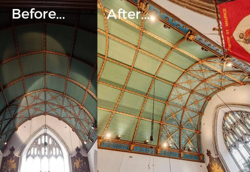 Heritage lighting design for churches results