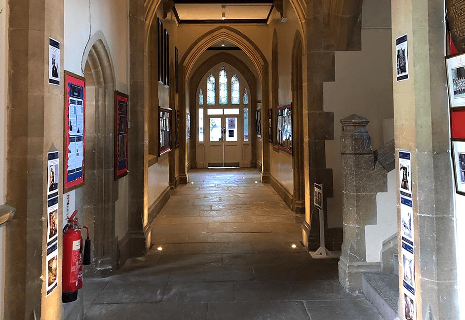 Lighting scheme for school corridor