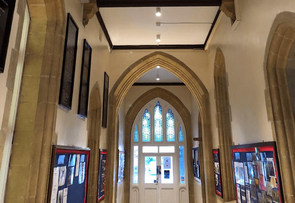 corridor lighting scheme for heritage building