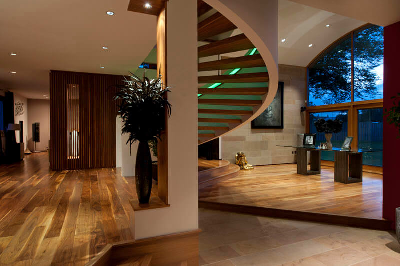 NEW MILNE with green stairway LED lighting