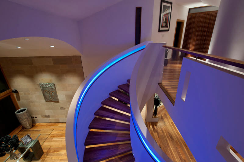 Staircase LED multi colour changing lighting