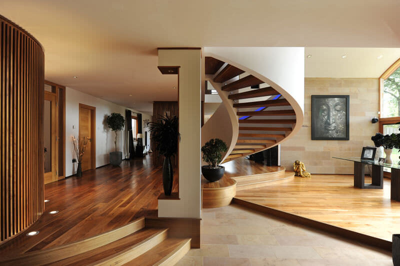 Private Property Staircase and Living Area