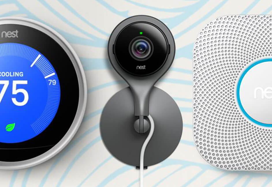 Smart home controls for home automation on Nest