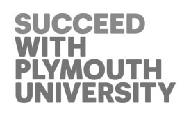Education, corporate - Plymouth University greyscale logo