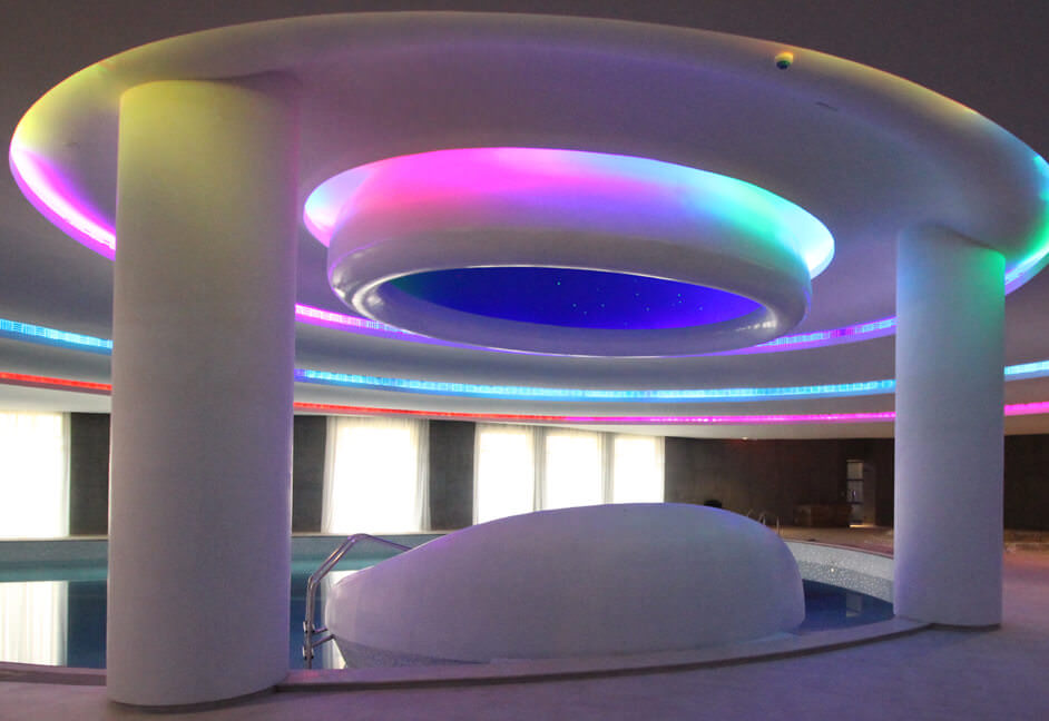 pool multi colour lighting
