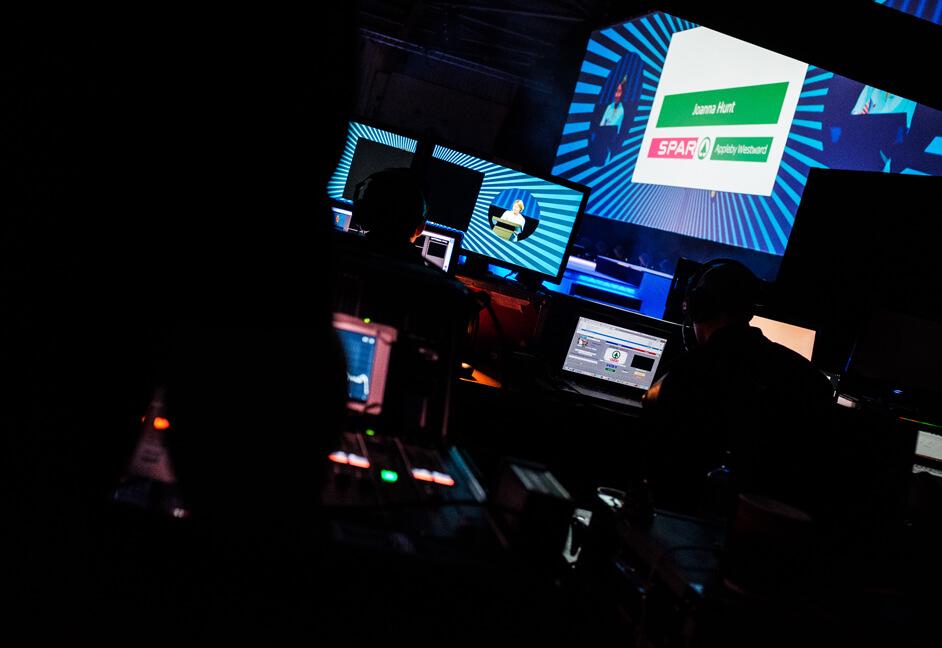Vision Mixer Production Screen