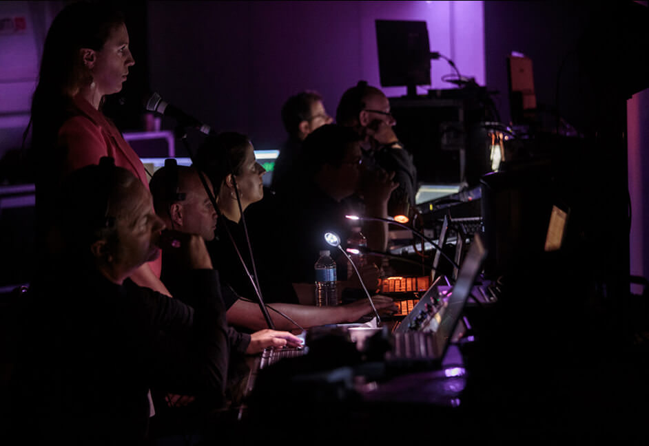 Behind the scenes production team members