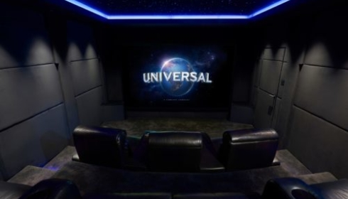 The Roxy cinema with Universal on screen with LED star ceiling