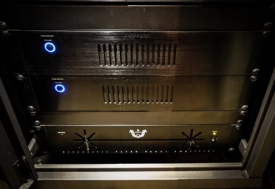 Audio visual equipment installed in Rack in Home Cinema installation in South East England