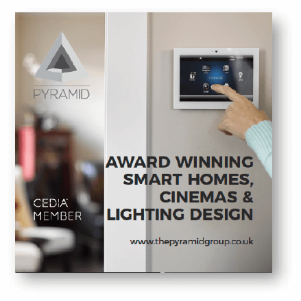 Smart home cinema and lighting brochure cover